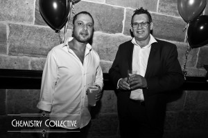 Single men at out launch party
